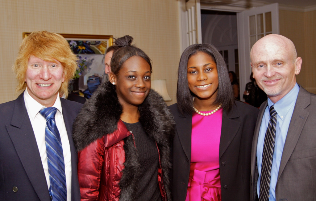 Steve Kaplan, Lacoste Academy members Alexis Gill and Isis Gill