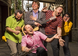 5/29/13 10:16:50 AM --  Justin Roberts and his Not Ready for Naptime Band . © Todd Rosenberg Photography 2013