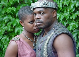 (l-r) Roslyn Ruff, Ty Jones in CTH's MACBETH (c)Jill  Jones